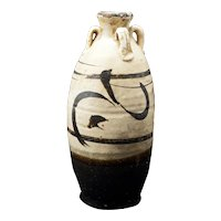 Ming Cizhou Earthenware Ceramic Jar with four handles