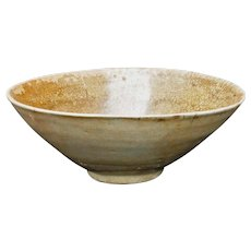 Korean Celadon Earthenware Conical Bowl Goryeo/Josean Dynasty 13th Century