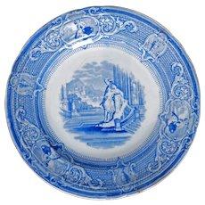 Staffordshire Transferware Plate Ironstone J. Clementson 19th Century