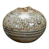 Thai Sawankhalok Stoneware Paste Box 15th Century