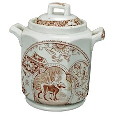 Aesthetic Movement Staffordshire Allerton Child's Biscuit Jar late 19th Century