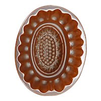 Victorian Food Mold with Dark Brown Color 19th Century