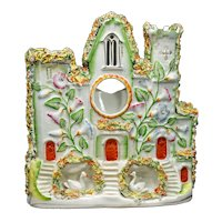 English Staffordshire Castle Watch Holder Late 19th Century