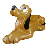 Disney Pluto Figurine Lying Down Evan K. Shaw/American Pottery Circa 1950