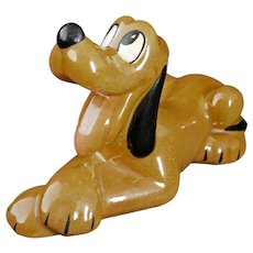 Disney Pluto Figurine Lying Down Evan K. Shaw/American Pottery Circa 1950