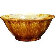 American Rockingham Ceramic Mixing Bowl 19th Century