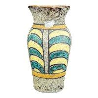 Mid Century Italian Toscany Lava Vase 1950s Original Label