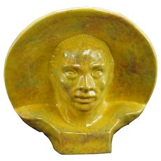 Mid Century Gonder Asian Motif Bust 1950's