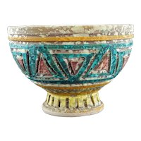 Mid Century Bitossi Lava Glaze Italian Bowl
