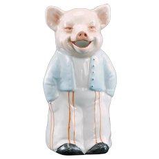 Victorian German Figural Pig Creamer Circa 1900