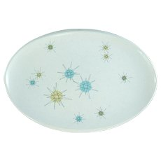 "Mid Century Franciscan Starburst Atomic 13"" Oval Platter"