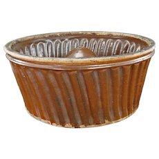 19TH Century French Glazed Pottery Turks Food Mold