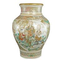 """10"""" Tall Japanese Meiji/Taisho Bodhisattvas Satsuma Vase"""