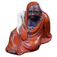 Japanese ceramic figure of Dharma the Buddhist monk early 20th century