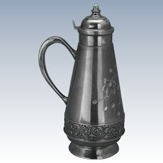 Victorian silver plate syrup by Great Eastern circa 1880
