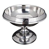 Silver plate pedestal centerpiece by Wilcox