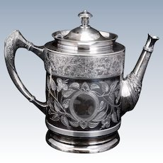 James Tufts Silver Plate Teapot late 19th Century
