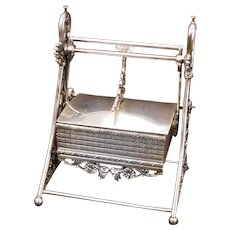 Victorian Silver Plate Meriden Moveable Jewelry Casket Circa 1878