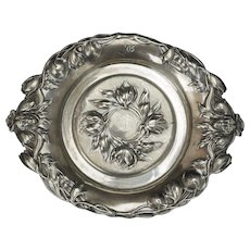 Art Nouveau American Silver Plate Co. Dish with Women and Lily Pads 1905