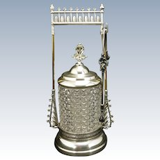 Victorian Webster & Bros. Silver Plate Pickle Castor Circa 1870