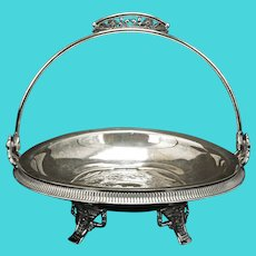Victorian Silver Plate Cake Basket by Simpson Hall Miller circa 1870