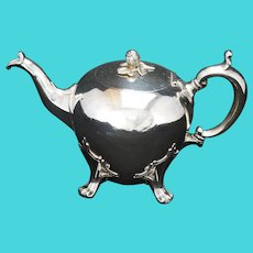Edwardian Sheffield Silver Plate Teapot Early 20th Century