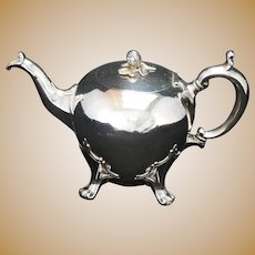 Edwardian Sheffield Silver Plate Teapot Early 20th Century