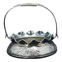 Victorian Silver Plate Basket by Derby Circa 1870