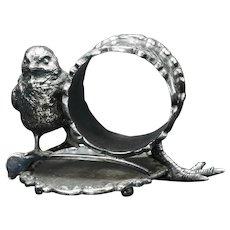 Wilcox Silver Plate Chick Napkin Ring Circa 1880