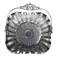 James Tufts Silver Plate Cake Basket Late 19th C