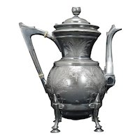 Victorian Silver Plate Teapot by Rogers & Bro. Circa 1870