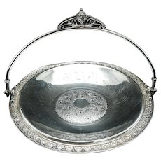 Victorian James Tufts Silver Plate Cake Basket Late 19th Century