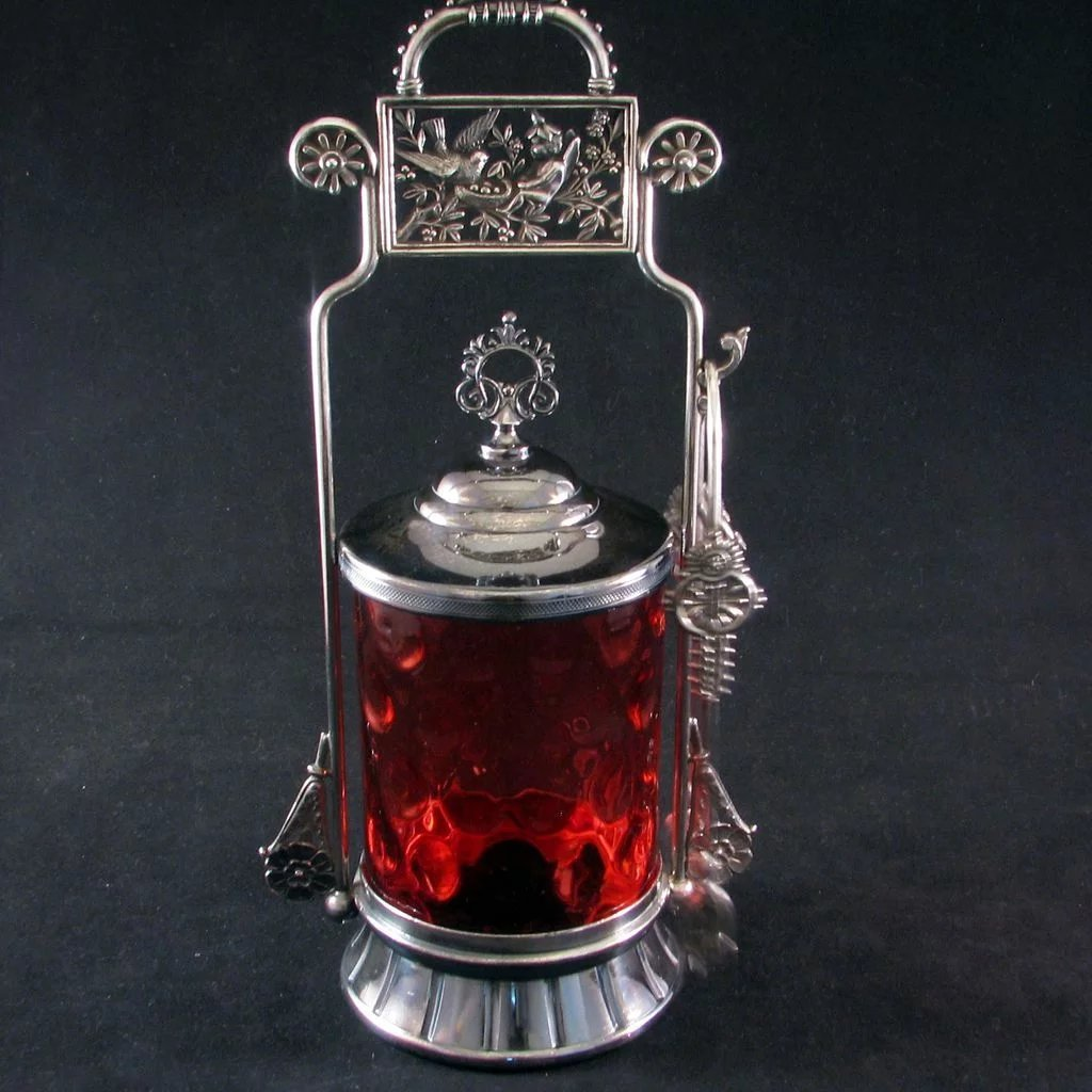 Aesthetic Period Victorian Silver Plated Pickle Castor