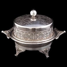 Victorian Silver Plate Butter Dish by Toronto Silver Plate Company circa 1890 - Red Tag Sale Item
