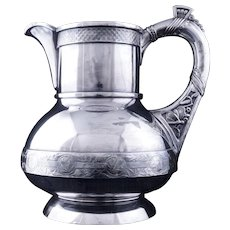 Aesthetic Movement Victorian silver plate pitcher by Pairpoint circa 1870