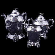 Victorian three piece tea set by Webster late 19th century