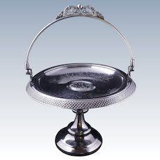Victorian Aesthetic Movement Pairpoint silver plate cake basket circa 1870