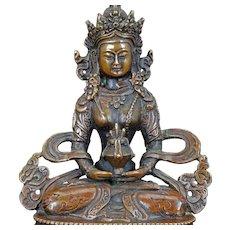 Sino-Tibetan bronze Buddhist figure of Maitreya 20th century