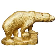Polar Bear Iron Bookend by Hubley circa 1925