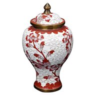 Chinese Cloisonné Miniature Jar with Lid circa 1900
