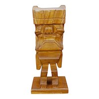 Hawaiian Large Mid-Century Wood Tiki Figure