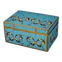Vintage Chinese Republic Cloisonné Box with Arabesque Design
