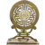 Chinese Brass Shou and Stone Folding Bookend Republic Period