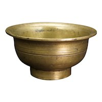 Chinese Republic Era Bronze Temple Offering Cup Oil Lamp