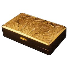 Elgin America art deco gilded Cosmetic Compact Carryall Circa 1930/40