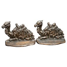 Egyptian Camel Bookends by Connecticut Foundry Iron 1928