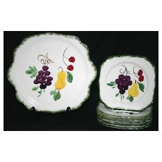 Blue Ridge Fruit Fantasy Specialty Plate & 8 Matching Plates
