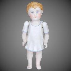 German All Bisque Boy Doll