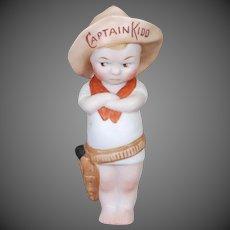 German All Bisque Boy Cowboy Doll