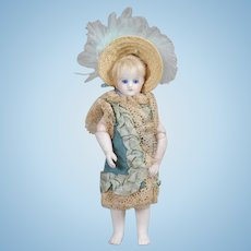 French All Bisque Jointed-Elbow Mignonette Doll